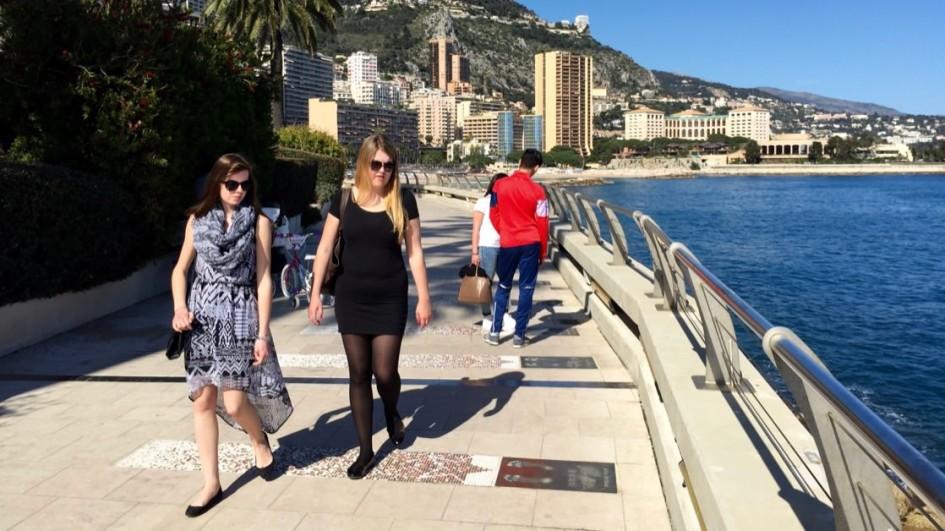 Promenada Mistrzów w Monako Monte Carlo